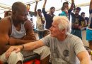 Richard Gere visits migrants at sea in Mediterranean on Open Arms