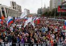 Tens of thousands protest barred election candidates