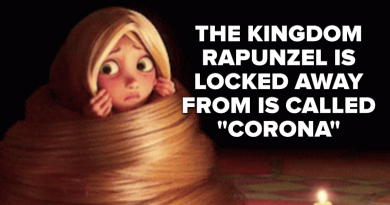"""""""Corona"""" Is The Name Of The Kingdom Rapunzel Was Locked Away From During """"Tangled"""" And I Feel Uneasy"""