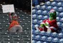 Baseball Mascots In Empty Stadiums: Photos