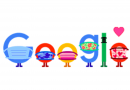 Google Doodle reminds people to wear masks, socially distance