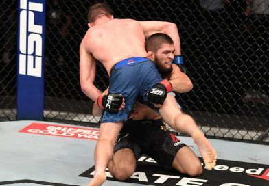 Nurmagomedov announced his U.F.C. retirement in the octagon after defending his lightweight title.