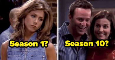 """Can You Tell If These Episodes Of """"Friends"""" Are From Season 1 Or Season 10?"""