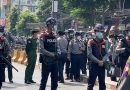Thousands protest army takeover in Myanmar's biggest city