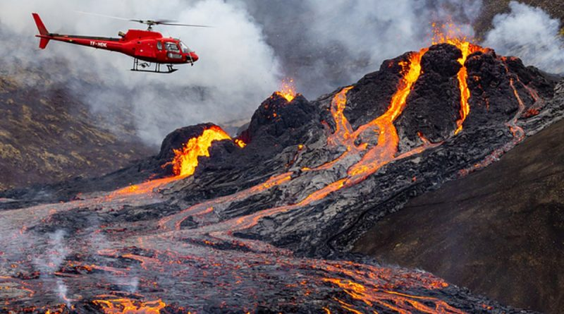 Iceland's Fagradalsfjall Volcano Eruption Photos